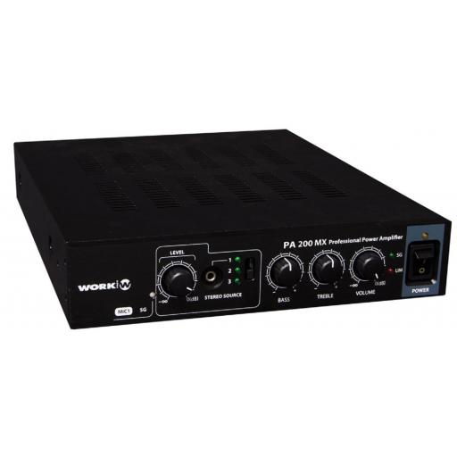Work Pa 200 Mx Amplificador/Mezclador para Megafonía