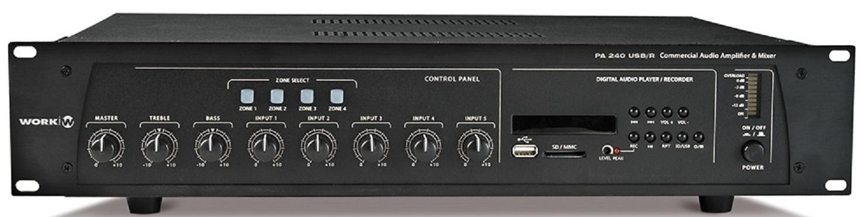 Work Pa 240 Usb/R Amplificador/Mezclador para Megafonía