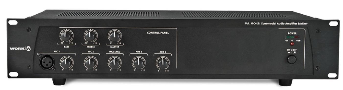 Work Pa 60/2 Amplificador/Mezclador para Megafonía