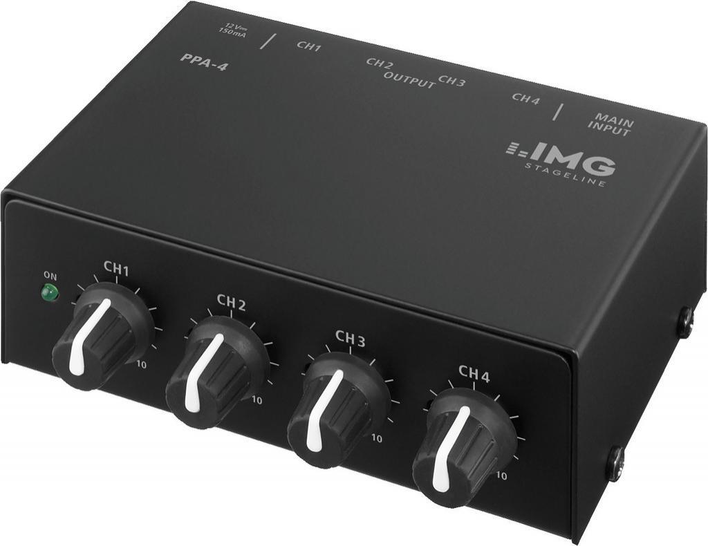 Stage Line Ppa-4 Amplificador de Auriculares