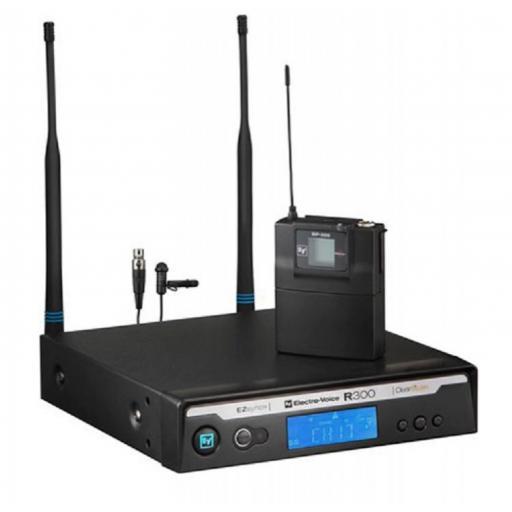 Electro voice R300-L/C Sistema Inalámbrico con Micrófono de Solapa