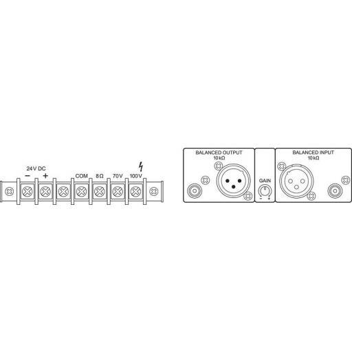 Monacor Sinus-10 Amplificador para megafonía 1x120 Watios [1]