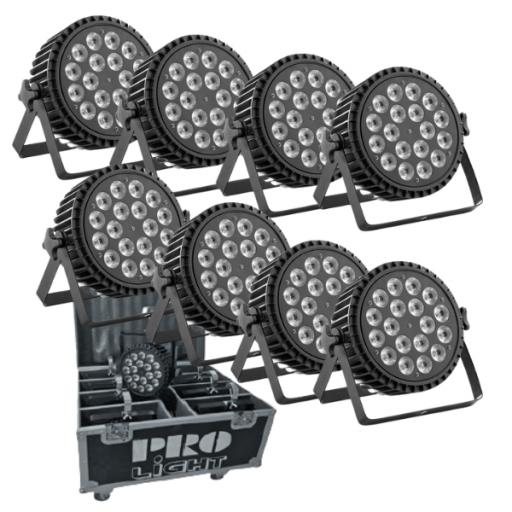 ProLight Eco Slim 180 Foco Led (Pack 8 uds. + Flight Case)