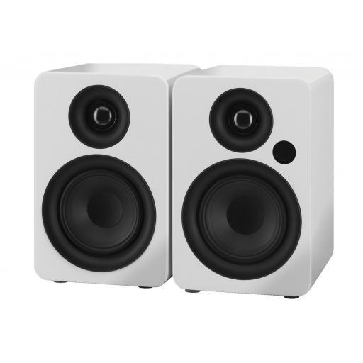 Stage Line Sound-4Bt/Ws Monitores de Estudio Amplificados con Bluetooth (Pareja)