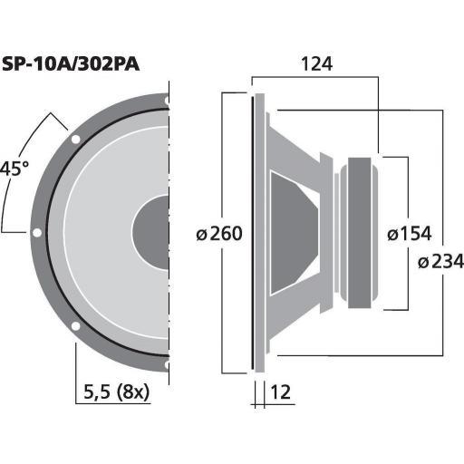 """Stage Line Sp-10A/302Pa Altavoz de Graves/Medios 10"""" [1]"""