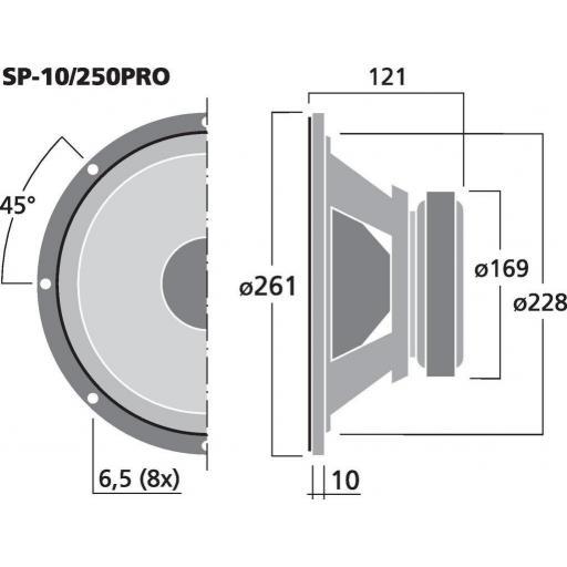 """Stage Line Sp-10/250Pro Subwoofer 10"""" [1]"""