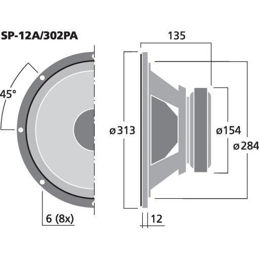 """Stage Line Sp-12A/302Pa Altavoz de Graves/Medios 12"""" [1]"""