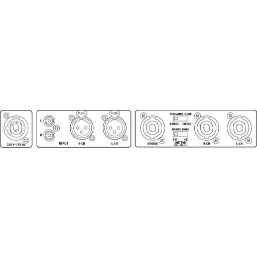 Stage Line Sta-1000D Etapa de Potencia 2x500 Watios [1]