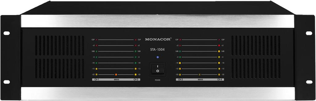 Monacor Sta-1504 Etapa de Potencia 4 Canales