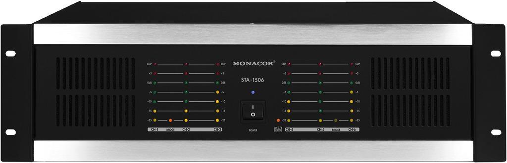 Monacor Sta-1506 Etapa de Potencia 6 Canales
