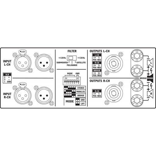 Stage Line Sta-2200 Etapa de Potencia 2x1100 Watios [1]