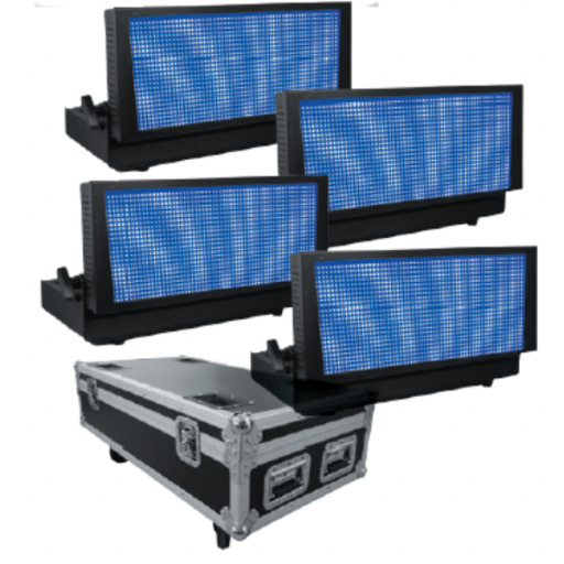 ProLight Pixel Strobe 400 Rgb Estrobo de Led (Pack 4 uds. + Flight Case)