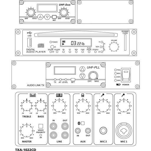 Monacor Txa-1022Cd Sistema de Audio Portátil [1]