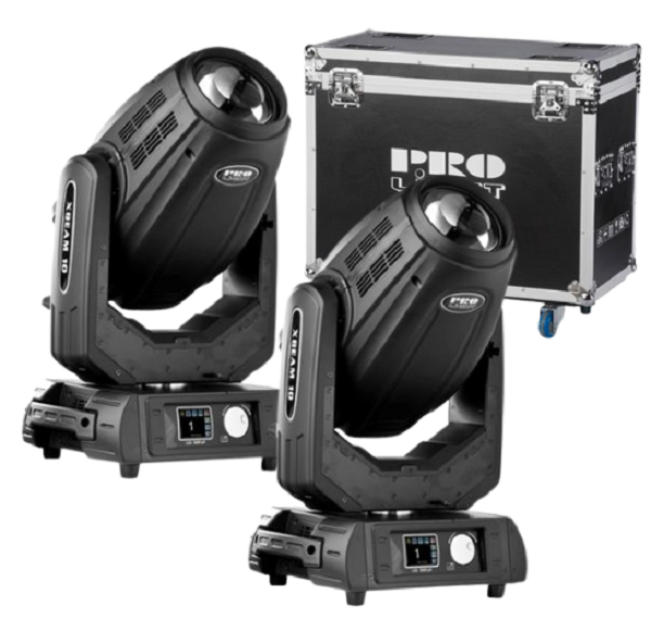 Prolight XBeam 10 Cabeza Móvil (Pack 2 Uds. + Flight Case)