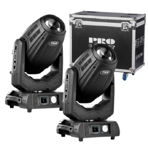 Prolight XBeam 10 Cabeza Móvil (Pack 2 Uds. + Flight Case) [0]