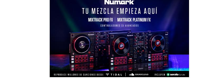 NUEVAS CONTROLADORAS DJ NUMARK