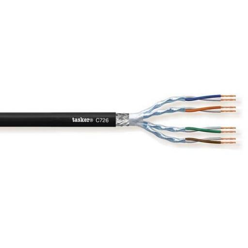 Tasker C726 Cable LAN 7 S-F.T.P. en PVC 4x2x0,14mm² (100 metros)