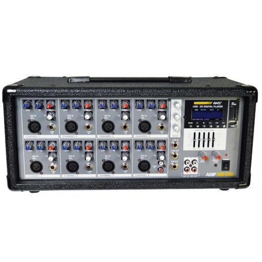 Ams Amp 500 Usb Mezclador/Cabezal Amplificado