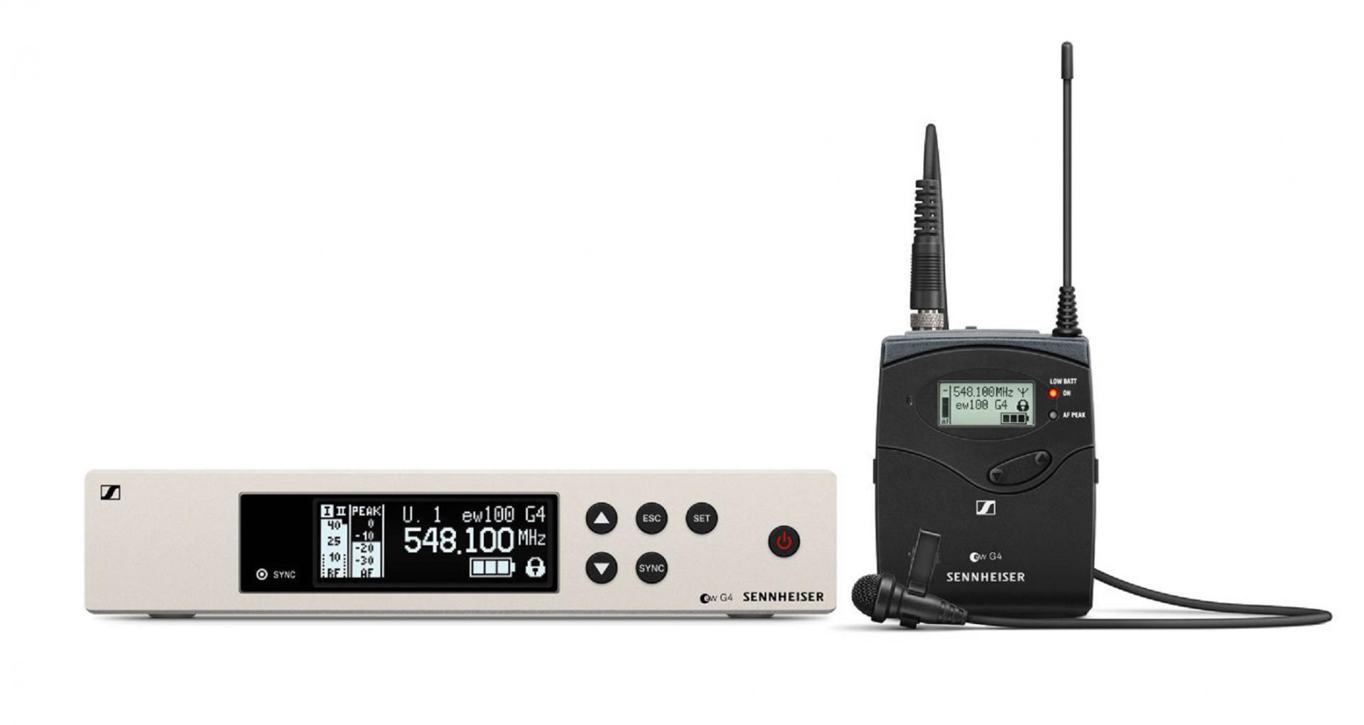 Sennheiser Ew 100 G4-Me4 Sistema inalámbrico de petaca