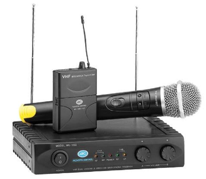 Acoustic Control Mu 1002/Set Sistema Inalámbrico Doble