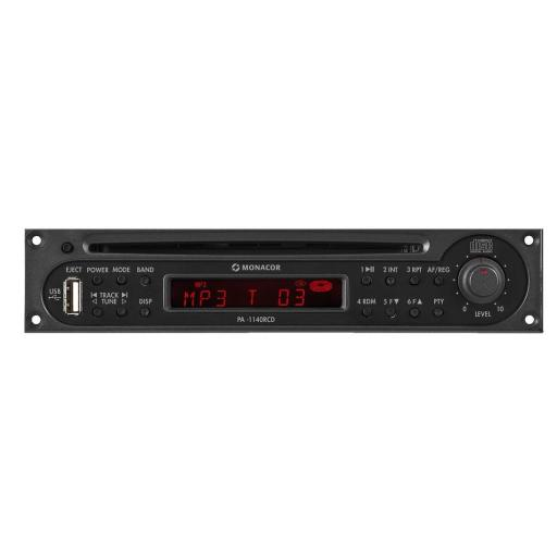 Monacor Pa-1140Rcd Módulo Sintonizador/Cd/Usb para Megafonía