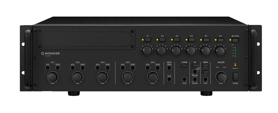 Monacor Pa-6600 Amplificador/Mezclador para Megafonia