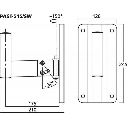 Stage Line Past-515/Sw Soporte de altavoz [1]