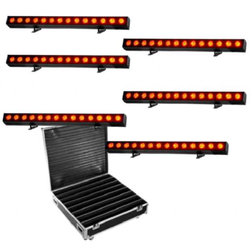 ProLight Pixel Bar 200 Indoor Barra Led (Pack 6 uds. + Flight Case)