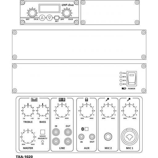 Monacor Txa-1020 Sistema de Audio Portátil [1]