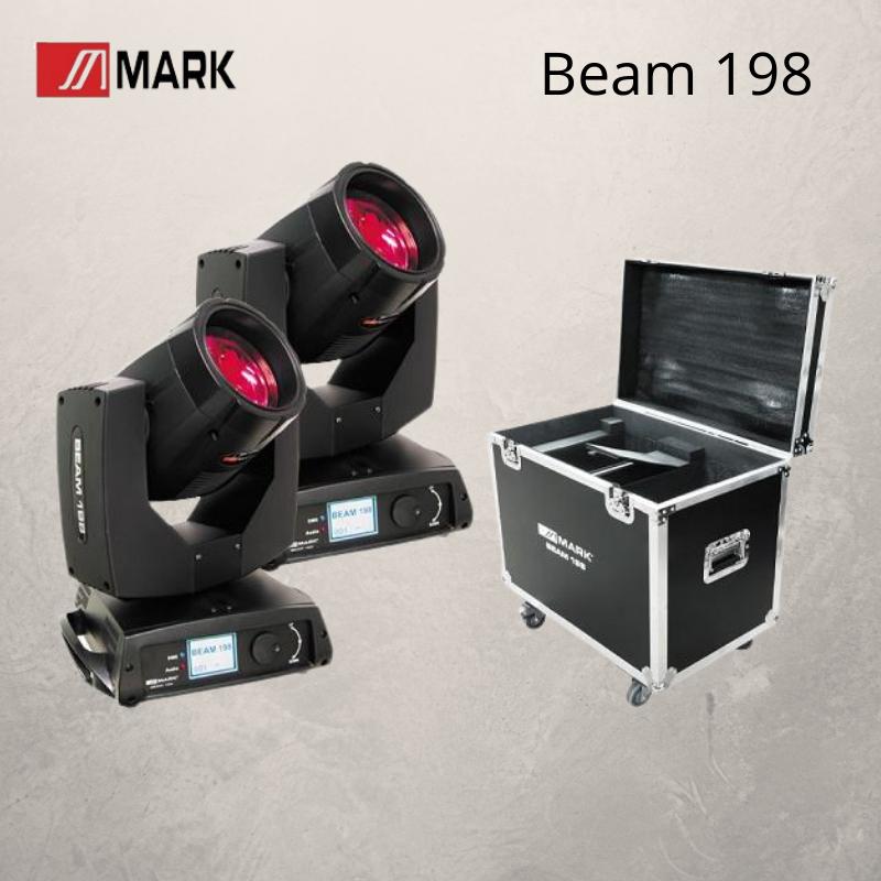 Mark Beam 198 Cabeza Móvil (2 uds. + Flight Case)