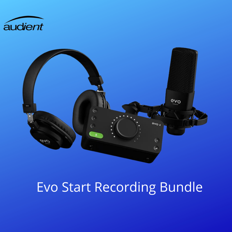 Audient Evo Start Recording Bundle Kit de Grabación