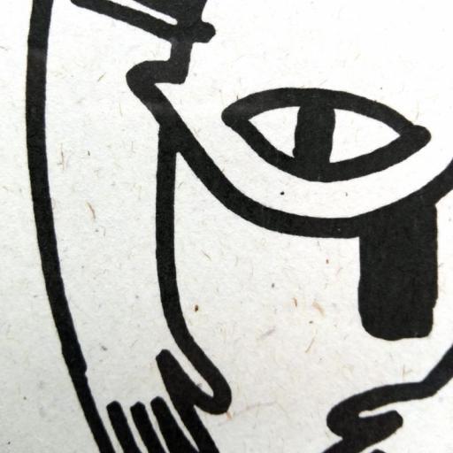 SI EL ESPÍRITU NO PESA. Lámina cuadrada 29,7 x 29,7 cms. [3]