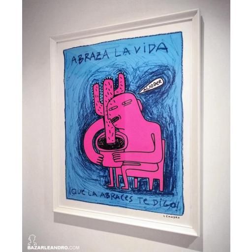 ABRAZA LA VIDA, ilustración original.