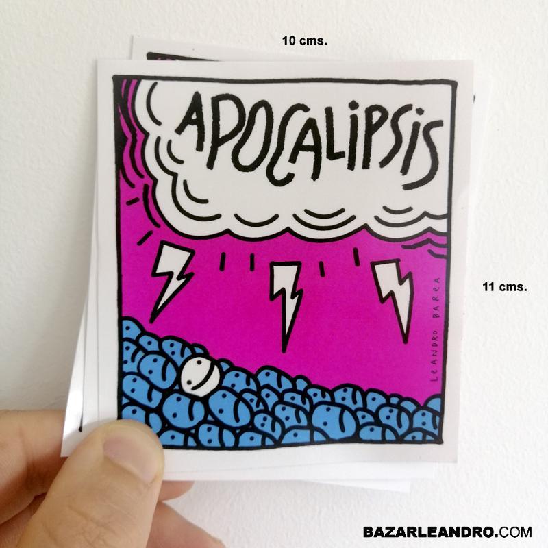 PEGATINAS APOCALIPSIS 10 x 10 cms