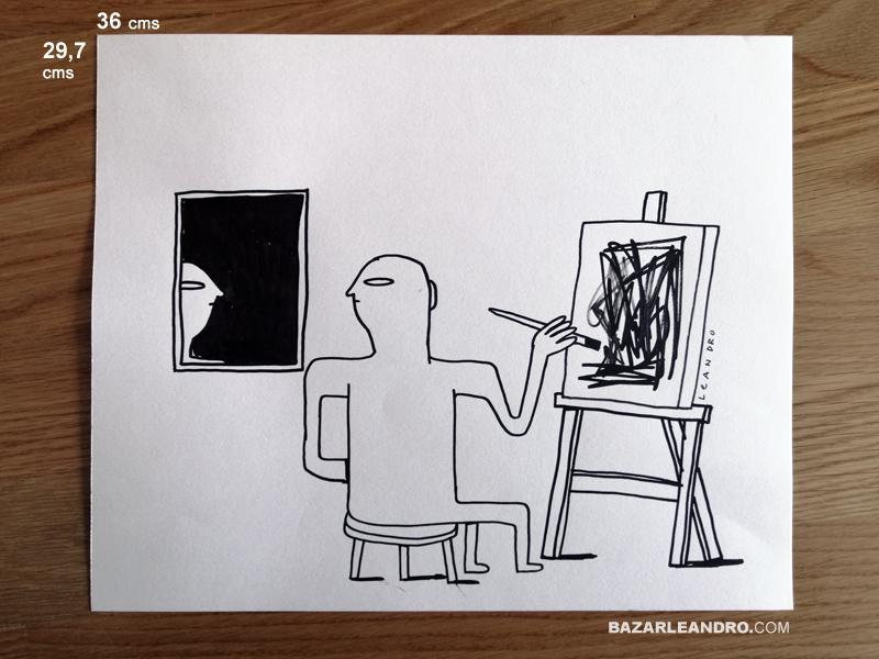 AUTORRETRATO. Ilustración original.