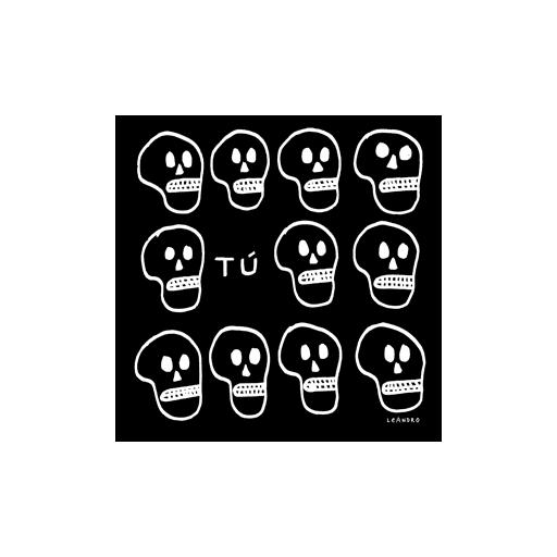 Camiseta negra CALAVERAS [1]