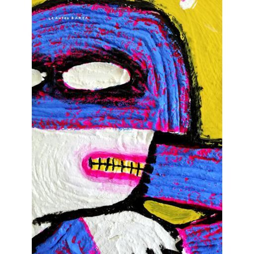 DECEPCION MAN. Ilustración original sobre tablilla de okume. [1]
