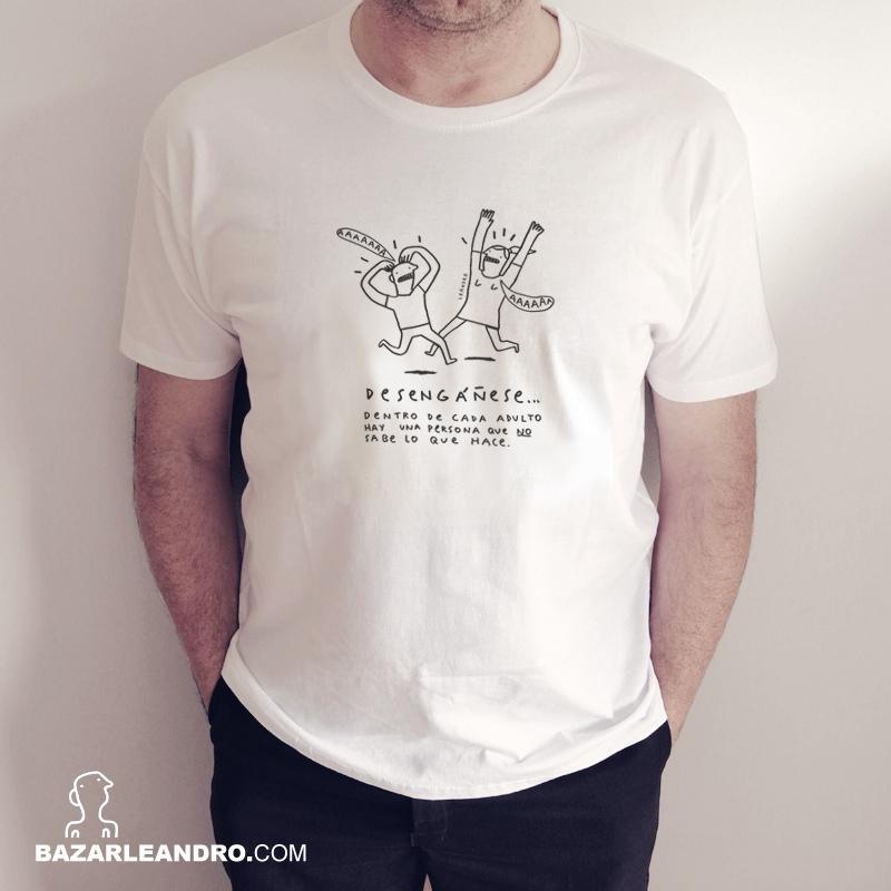 Camiseta blanca DENTRO DE CADA ADULTO