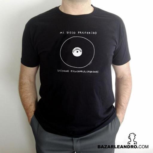 Camiseta negra MI DISCO PREFERIDO