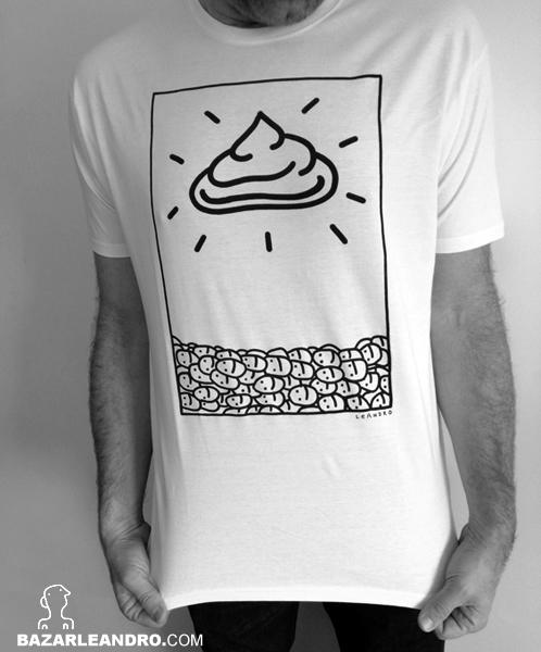 Camiseta blanca HOLY SHIT