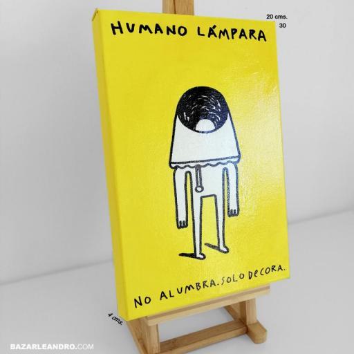 HUMANO LÁMPARA. Ilustración original sobre lienzo