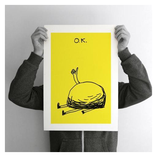 OK.  A2 (42 X 59,4 cm). Impresión digital numerada y limitada a 10 copia