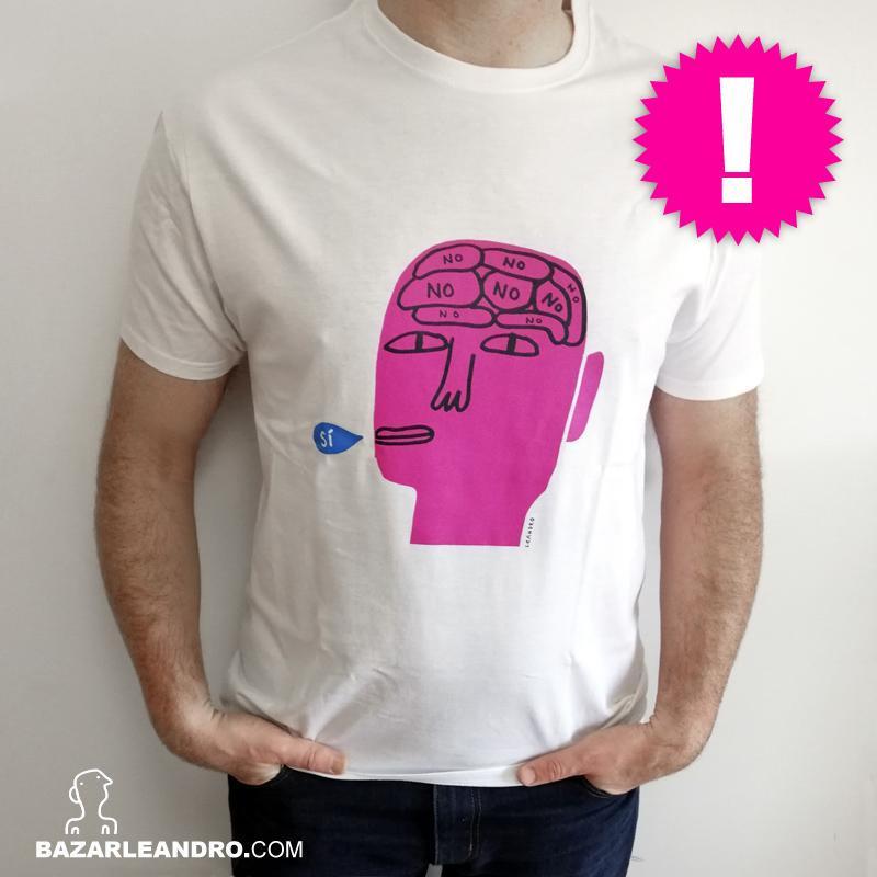 Camiseta blanca SÍ color