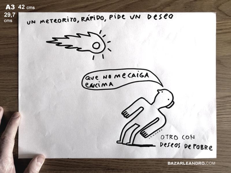 METEORITO. Ilustración original.