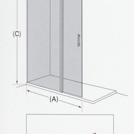 TV MILAN fijo + puerta, mamparas para duchas [3]