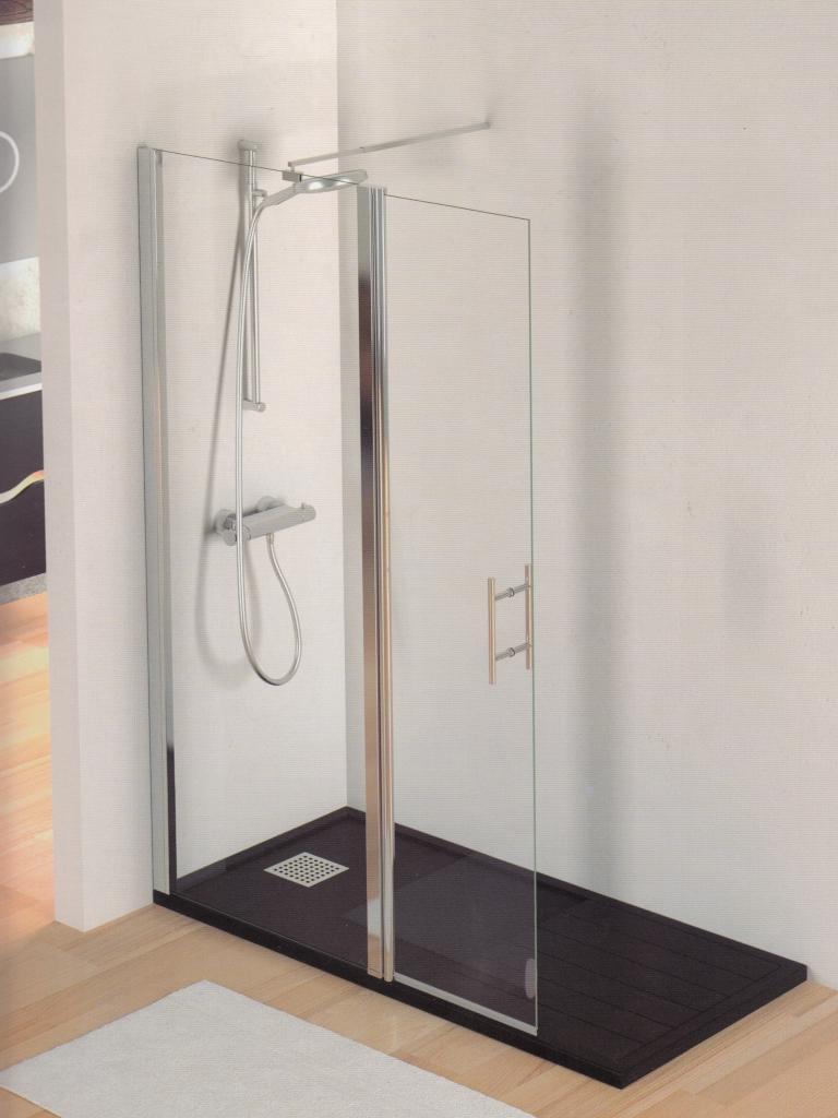 TV MILAN fijo + puerta, mamparas para duchas