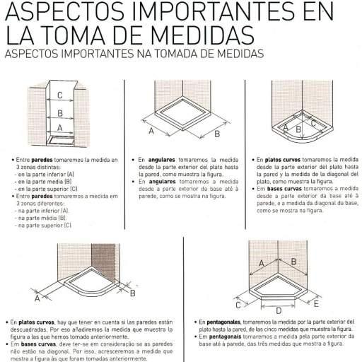 MODELO AC 2P, mampara puertas abatibles [3]