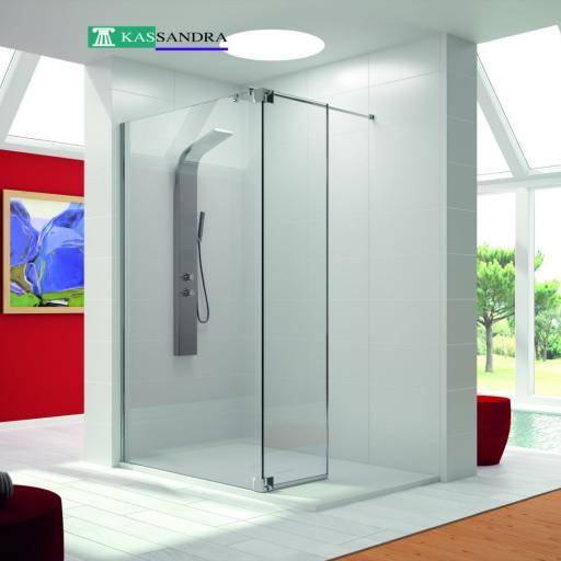 MOD. FH BISAGRA fijo + puerta, mampara de ducha