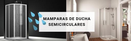 Mamparas  de ducha semicircular