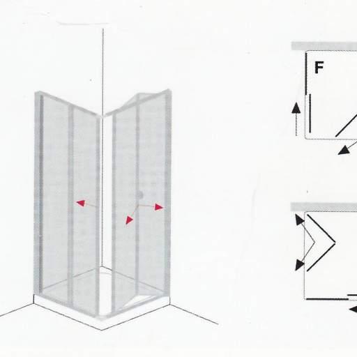 BERLIN PLEGABLE + CORREDERA mampara para ducha [1]